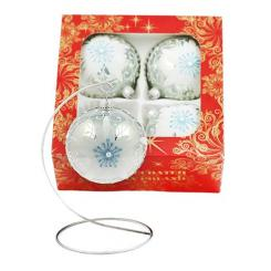 Christmas ornaments decorated with a diameter of 100 millimeters