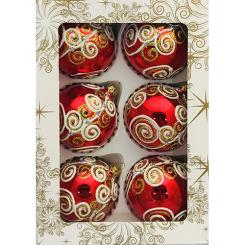 Christmas ornaments decorated with a diameter of 80 millimeters
